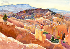 Bryce Canyon, California art by Glen Knowles. HD giclee art prints for sale at CaliforniaWatercolor.com - original California paintings, & premium giclee prints for sale