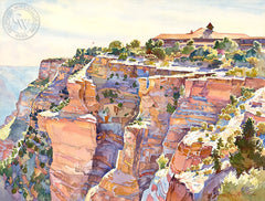 El Tovar, Grand Canyon National Park, California art by Glen Knowles. HD giclee art prints for sale at CaliforniaWatercolor.com - original California paintings, & premium giclee prints for sale