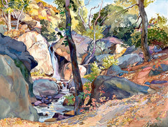 Faded Carpet of Fall, California art by Glen Knowles. HD giclee art prints for sale at CaliforniaWatercolor.com - original California paintings, & premium giclee prints for sale