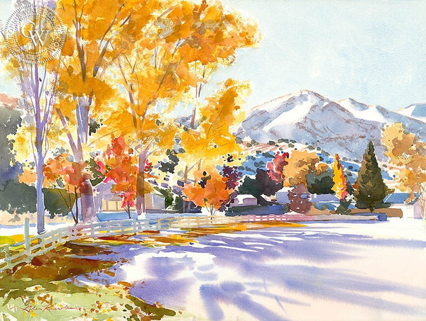 Fall Shadows, California art by Glen Knowles. HD giclee art prints for sale at CaliforniaWatercolor.com - original California paintings, & premium giclee prints for sale