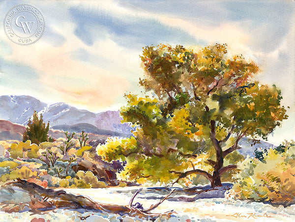Late Fall, a California watercolor painting by Glen Knowles. HD giclee art prints for sale at CaliforniaWatercolor.com - original California paintings, & premium giclee prints for sale