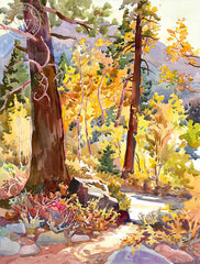 Luminosity, a California watercolor painting by Glen Knowles. HD giclee art prints for sale at CaliforniaWatercolor.com - original California paintings, & premium giclee prints for sale