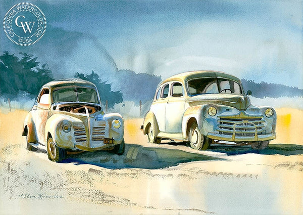 Old Friends, California art by Glen Knowles. HD giclee art prints for sale at CaliforniaWatercolor.com - original California paintings, & premium giclee prints for sale