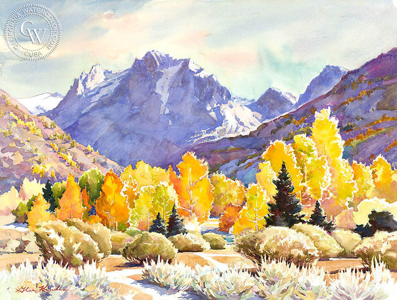 that calendar afternoon watercolor art by glen knowles california