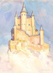 The Floating Alcazar, Seqouia, Spain, California art by Glen Knowles. HD giclee art prints for sale at CaliforniaWatercolor.com - original California paintings, & premium giclee prints for sale