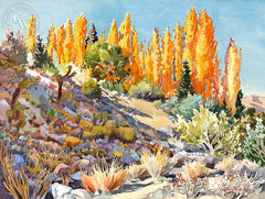 The Meditation Garden, California art by Glen Knowles. HD giclee art prints for sale at CaliforniaWatercolor.com - original California paintings, & premium giclee prints for sale