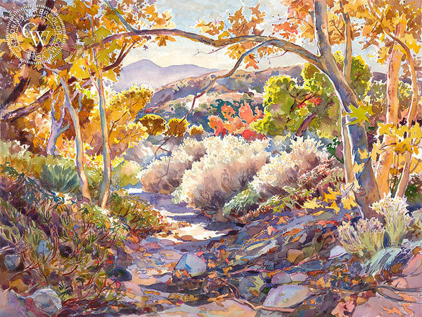 Treasure Chest of Fall, California art by Glen Knowles. HD giclee art prints for sale at CaliforniaWatercolor.com - original California paintings, & premium giclee prints for sale