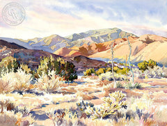 Winter Morning, California art by Glen Knowles. HD giclee art prints for sale at CaliforniaWatercolor.com - original California paintings, & premium giclee prints for sale