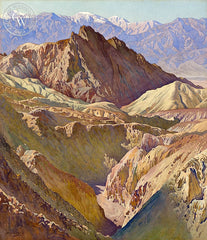 Golden Valley, Death Valley, California art by Gunnar Widforss. HD giclee art prints for sale at CaliforniaWatercolor.com - original California paintings, & premium giclee prints for sale
