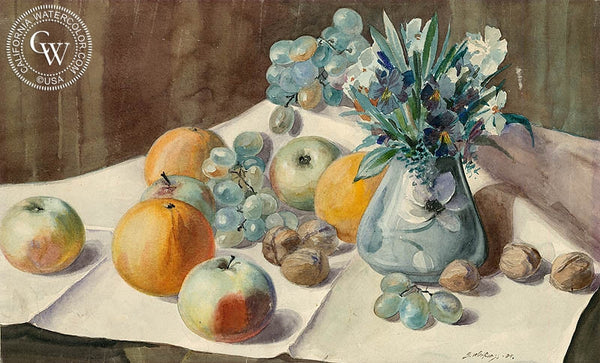 Still Life, 1904, California art by Gunnar Widforss. HD giclee art prints for sale at CaliforniaWatercolor.com - original California paintings, & premium giclee prints for sale