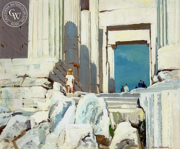 Acropolis, 1962, California art by Hardie Gramatky. HD giclee art prints for sale at CaliforniaWatercolor.com - original California paintings, & premium giclee prints for sale