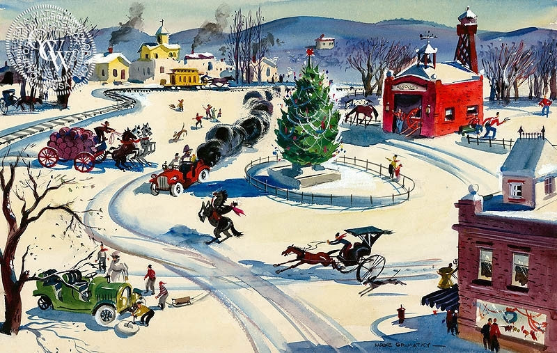 an old fashioned christmas westport 1940 california art by hardie