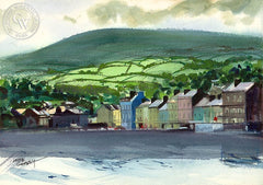 Bantry Bay, Ireland, 1977, California art by Hardie Gramatky. HD giclee art prints for sale at CaliforniaWatercolor.com - original California paintings, & premium giclee prints for sale