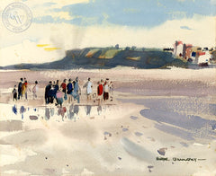 Beach at Wimereux, 1977, California art by Hardie Gramatky. HD giclee art prints for sale at CaliforniaWatercolor.com - original California paintings, & premium giclee prints for sale