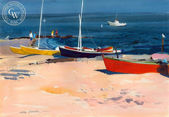 Boats, Old Lyme, (Westport), 1976, California art by Hardie Gramatky. HD giclee art prints for sale at CaliforniaWatercolor.com - original California paintings, & premium giclee prints for sale