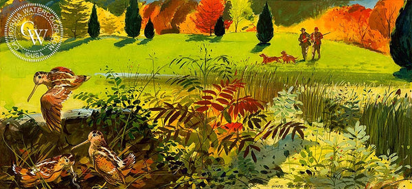 Brown Phantom of the Alders, 1953, California art by Hardie Gramatky. HD giclee art prints for sale at CaliforniaWatercolor.com - original California paintings, & premium giclee prints for sale