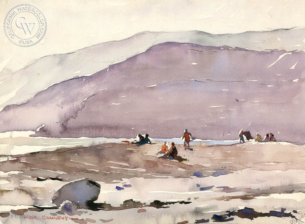 California Beach, 1928, California art by Hardie Gramatky. HD giclee art prints for sale at CaliforniaWatercolor.com - original California paintings, & premium giclee prints for sale