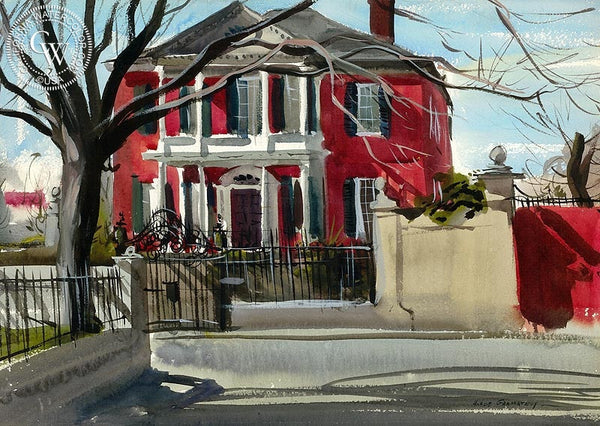 Charleston, 1938, California art by Hardie Gramatky. HD giclee art prints for sale at CaliforniaWatercolor.com - original California paintings, & premium giclee prints for sale
