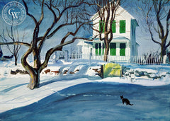 Closed for the Winter, (Westport), 1946, California art by Hardie Gramatky. HD giclee art prints for sale at CaliforniaWatercolor.com - original California paintings, & premium giclee prints for sale