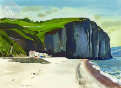 Coast of Normandy, 1976, California art by Hardie Gramatky. HD giclee art prints for sale at CaliforniaWatercolor.com - original California paintings, & premium giclee prints for sale