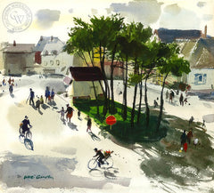 Coutanceville, France, 1976, California art by Hardie Gramatky. HD giclee art prints for sale at CaliforniaWatercolor.com - original California paintings, & premium giclee prints for sale