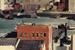 East River #2, 1938, California art by Hardie Gramatky. HD giclee art prints for sale at CaliforniaWatercolor.com - original California paintings, & premium giclee prints for sale