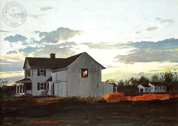 Evening Quiet, (Westport), 1968, California art by Hardie Gramatky. HD giclee art prints for sale at CaliforniaWatercolor.com - original California paintings, & premium giclee prints for sale