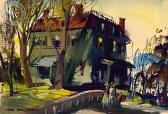 Old Pavilion, Nyack, 1938, California art by Hardie Gramatky. HD giclee art prints for sale at CaliforniaWatercolor.com - original California paintings, & premium giclee prints for sale