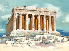 Parthenon, 1961, California art by Hardie Gramatky. HD giclee art prints for sale at CaliforniaWatercolor.com - original California paintings, & premium giclee prints for sale