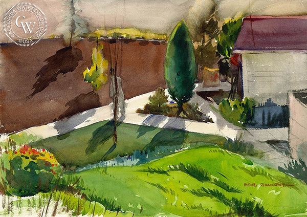 Pathways, 1931, California art by Hardie Gramatky. HD giclee art prints for sale at CaliforniaWatercolor.com - original California paintings, & premium giclee prints for sale