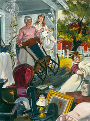 Revolt of Mother, 1948, California art by Hardie Gramatky, illustration for Collier's Magazine, 1936. HD giclee art prints for sale at CaliforniaWatercolor.com - original California paintings, & premium giclee prints for sale