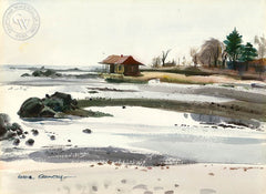 Schlaet Point, (Westport), 1948, California art by Hardie Gramatky. HD giclee art prints for sale at CaliforniaWatercolor.com - original California paintings, & premium giclee prints for sale