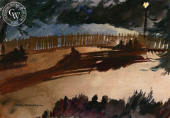 Shadows, 1930, California art by Hardie Gramatky. HD giclee art prints for sale at CaliforniaWatercolor.com - original California paintings, & premium giclee prints for sale