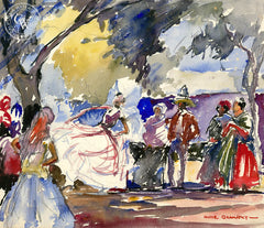 Spanish Dance, 1929, California art by Hardie Gramatky. HD giclee art prints for sale at CaliforniaWatercolor.com - original California paintings, & premium giclee prints for sale