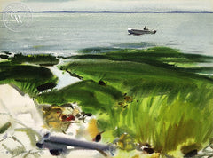 The Fisherman, (Westport), 1969, California art by Hardie Gramatky. HD giclee art prints for sale at CaliforniaWatercolor.com - original California paintings, & premium giclee prints for sale