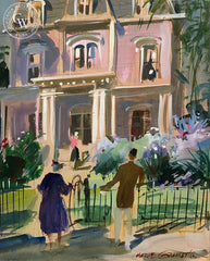 Warm Welcome, c. 1940's, California art by Hardie Gramatky. HD giclee art prints for sale at CaliforniaWatercolor.com - original California paintings, & premium giclee prints for sale
