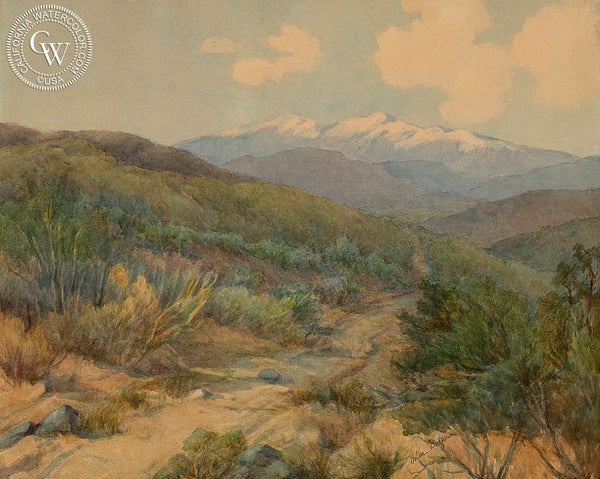 San Bernardino, California art by Helen Belfour. HD giclee art prints for sale at CaliforniaWatercolor.com - original California paintings, & premium giclee prints for sale