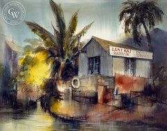 Lani Kai Harbor, California art by Henry Doane. HD giclee art prints for sale at CaliforniaWatercolor.com - original California paintings, & premium giclee prints for sale