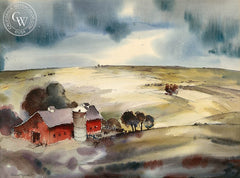 Homestead, California art by Herb Ryman. HD giclee art prints for sale at CaliforniaWatercolor.com - original California paintings, & premium giclee prints for sale