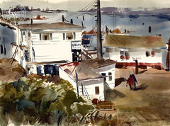 The Galley, 1965, California art by Horace S. Page. HD giclee art prints for sale at CaliforniaWatercolor.com - original California paintings, & premium giclee prints for sale