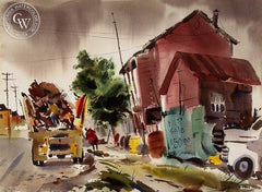 The Junk Man, California art by Horace S. Page. HD giclee art prints for sale at CaliforniaWatercolor.com - original California paintings, & premium giclee prints for sale