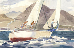 Belmont Shores, California art by Hugh Duncan. HD giclee art prints for sale at CaliforniaWatercolor.com - original California paintings, & premium giclee prints for sale