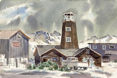 Mammoth, California art by Hugh Duncan. HD giclee art prints for sale at CaliforniaWatercolor.com - original California paintings, & premium giclee prints for sale