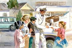 Memories, c. 1952, California art by Hugh Duncan. HD giclee art prints for sale at CaliforniaWatercolor.com - original California paintings, & premium giclee prints for sale