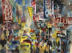 Jack Laycox - Broadway Moment - California art - fine art print for sale, giclee watercolor print - Californiawatercolor.com
