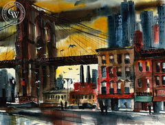 Jack Laycox - Brooklyn Bridge - California art - Californiawatercolor.com