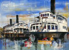 Jack Laycox - Forgotten Fleet, California art, original California watercolor art for sale - CaliforniaWatercolor.com
