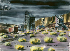 Jack Laycox - Nevada Silver - California art - Californiawatercolor.com