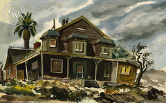Abandoned, California art by Jake Lee. HD giclee art prints for sale at CaliforniaWatercolor.com - original California paintings, & premium giclee prints for sale