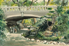 Ferndell, Griffith Park, L.A., 1971, California art by Jake Lee. HD giclee art prints for sale at CaliforniaWatercolor.com - original California paintings, & premium giclee prints for sale